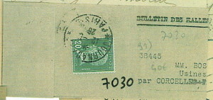 Beleg 2 EF 20 C vert  Zeitungsstreifband
